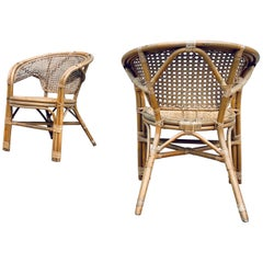 Danish Vintage Bamboo Chairs