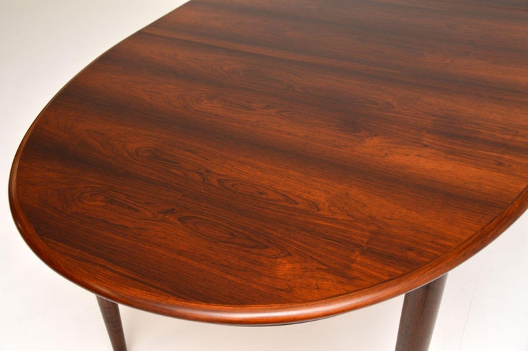 Danish Vintage Extending Dining Table For Sale 4