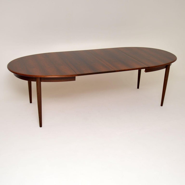 Mid-Century Modern Danish Vintage Extending Dining Table For Sale