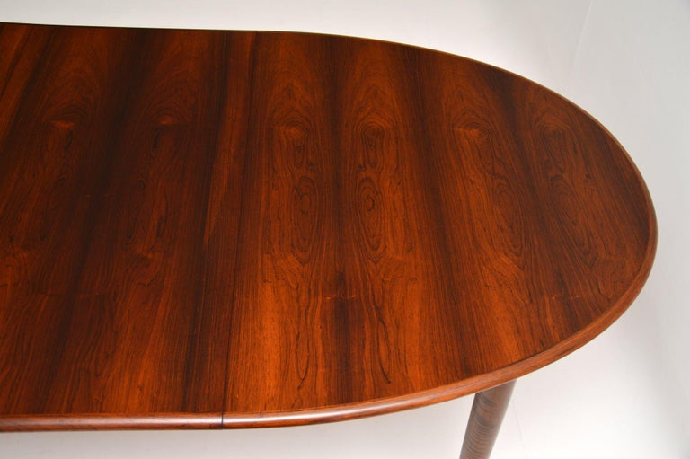 Danish Vintage Extending Dining Table For Sale 3