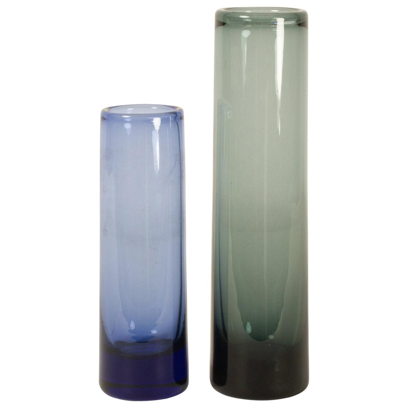 Danish Vintage Glass Vases by Per Lütken for Holmegaard, 1950s