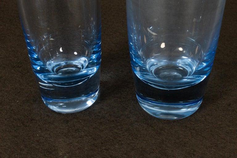 Mid-Century Modern Danish Vintage Glass Vases by Per Lütken for Holmegaard, 1960s For Sale