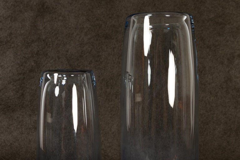 Danish Vintage Glass Vases by Per Lütken for Holmegaard, 1960s In Good Condition For Sale In Nibe, Nordjylland