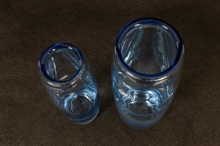 Mid-20th Century Danish Vintage Glass Vases by Per Lütken for Holmegaard, 1960s For Sale
