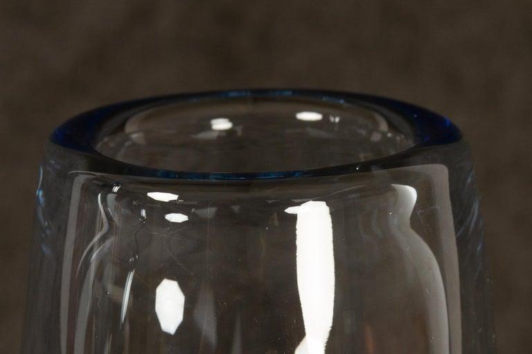Danish Vintage Glass Vases by Per Lütken for Holmegaard, 1960s For Sale 1