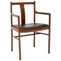 Danish Vintage Leather Armchair / Desk Chair