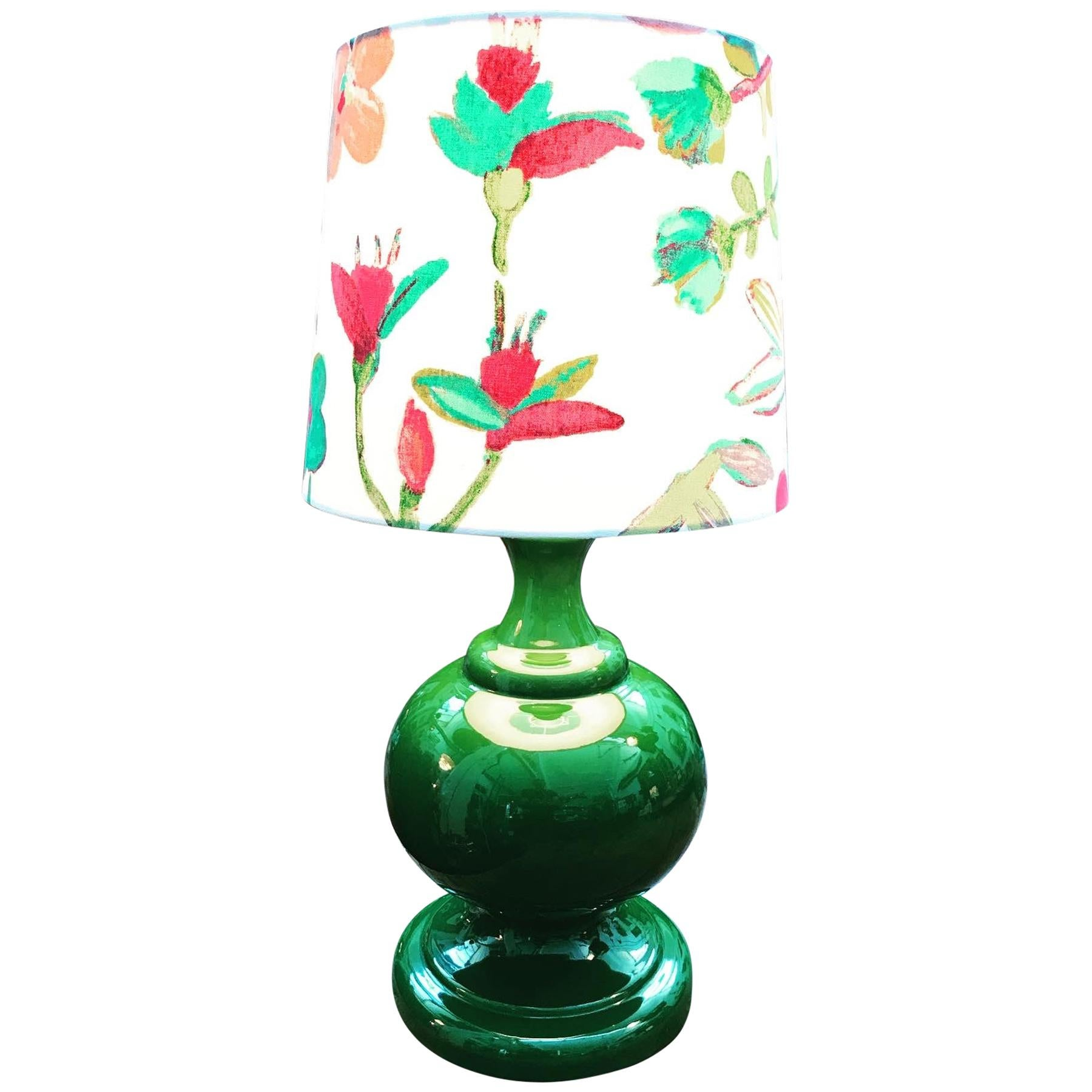 Danish Vintage Retro Porcelain Table Lamp from the 1960s