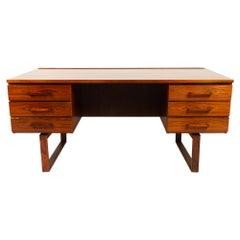Danish Vintage Rosewood Desk by Henning Jensen & Torben Valeur, 1960s