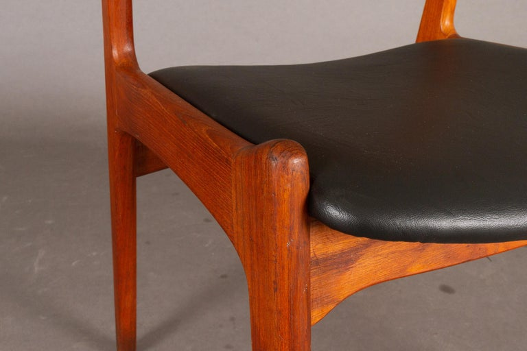 Danish Vintage Teak Dining Chairs, 1960s, Set of 2 For Sale 5