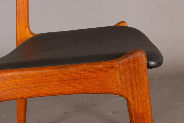 Danish Vintage Teak Dining Chairs, 1960s, Set of 2 For Sale 7