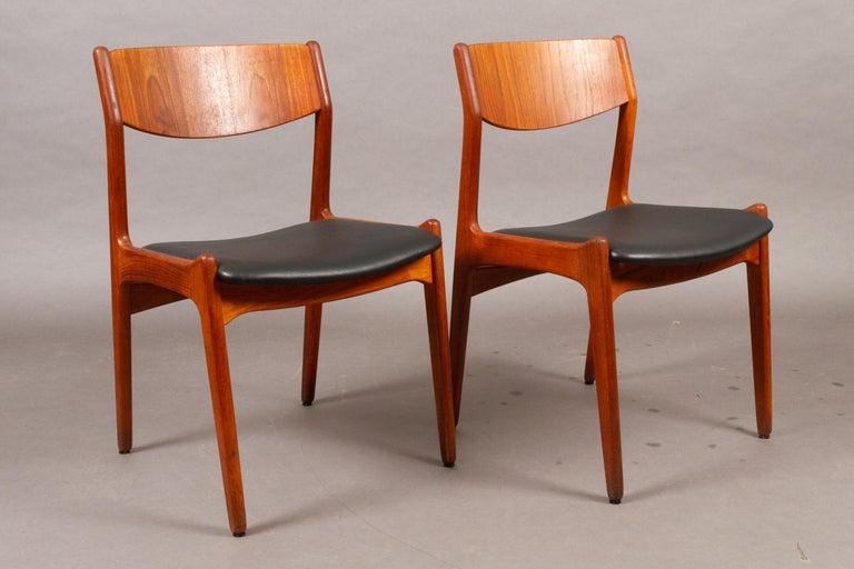 Scandinavian Modern Danish Vintage Teak Dining Chairs, 1960s, Set of 2 For Sale