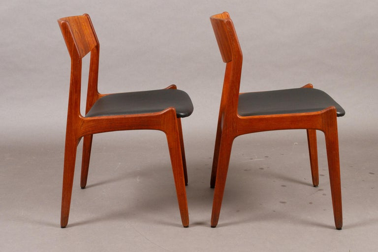 Danish Vintage Teak Dining Chairs, 1960s, Set of 2 In Good Condition For Sale In Nibe, Nordjylland
