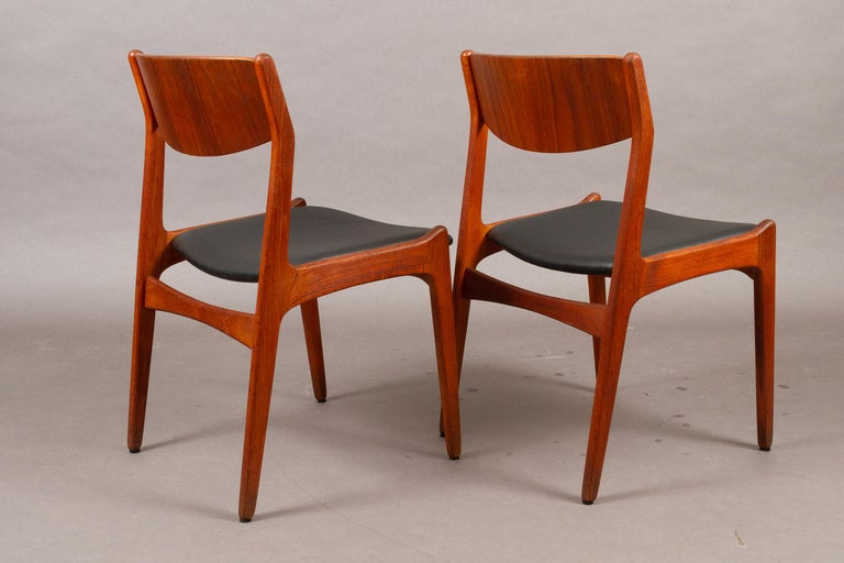 Mid-20th Century Danish Vintage Teak Dining Chairs, 1960s, Set of 2 For Sale