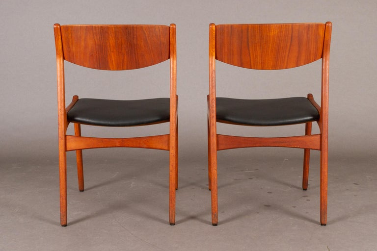 Danish Vintage Teak Dining Chairs, 1960s, Set of 2 For Sale 1