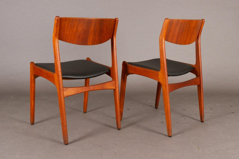 Danish Vintage Teak Dining Chairs, 1960s, Set of 2 For Sale 2
