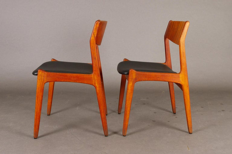 Danish Vintage Teak Dining Chairs, 1960s, Set of 2 For Sale 3