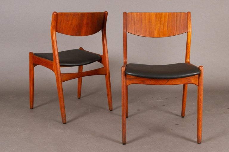 Danish Vintage Teak Dining Chairs, 1960s, Set of 2 For Sale 4