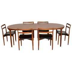Danish Vintage Teak Dining Table and Chairs by Harry Ostergaard