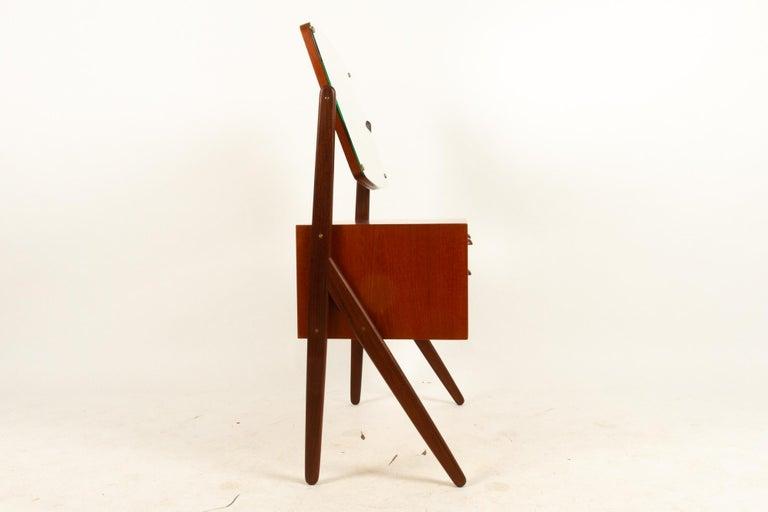 Danish Vintage Teak Vanity by Ølholm, 1960s For Sale 8