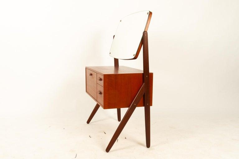 Danish Vintage Teak Vanity by Ølholm, 1960s For Sale 9