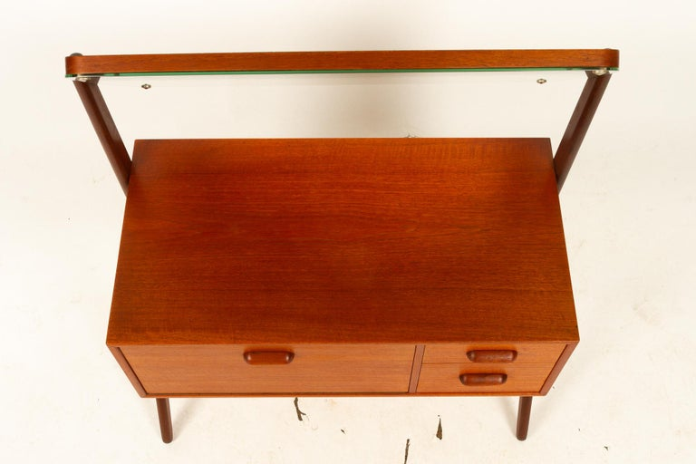 Danish Vintage Teak Vanity by Ølholm, 1960s For Sale 12