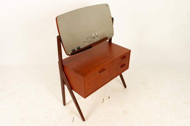 Danish Vintage Teak Vanity by Ølholm, 1960s For Sale 13