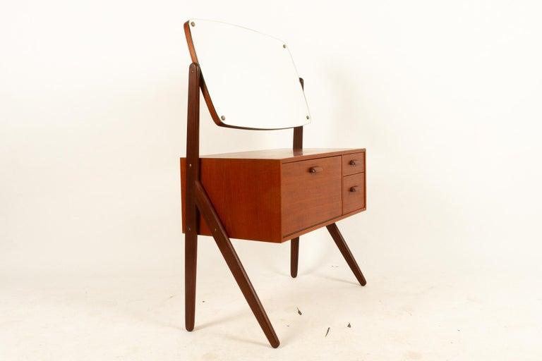 Mid-Century Modern Danish Vintage Teak Vanity by Ølholm, 1960s For Sale