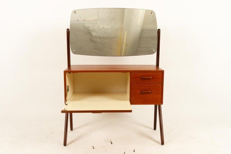 Mid-20th Century Danish Vintage Teak Vanity by Ølholm, 1960s For Sale