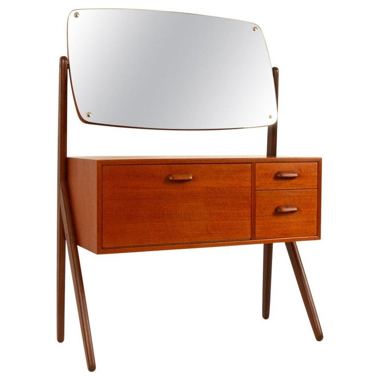 Danish Vintage Teak Vanity by Ølholm, 1960s For Sale