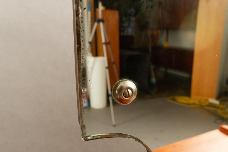 Danish Vintage Teak Vanity with Mirror, 1950s For Sale 12