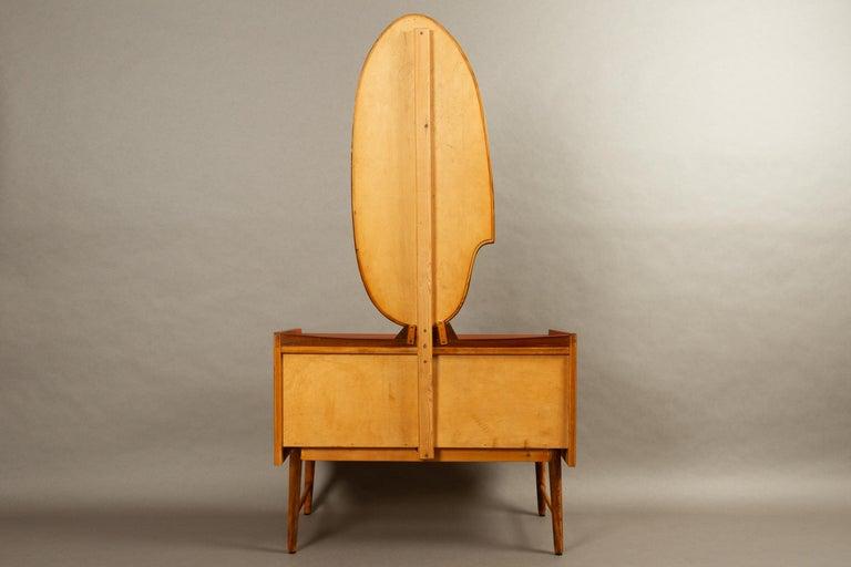Danish Vintage Teak Vanity with Mirror, 1950s For Sale 13