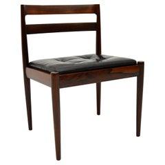 Danish Vintage Wood & Leather Chair by Kai Kristiansen
