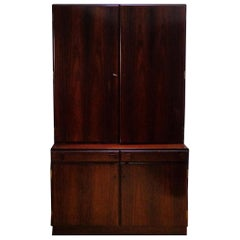 Danish Wall Cabinet in Rosewood Made by O. Bank Larsen Møbelfabrik, 1960s