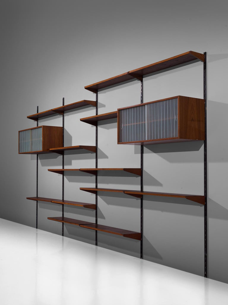 Mid-20th Century Danish Wall Unit in Teak, 1960s For Sale