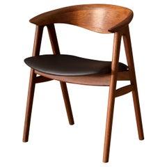 Danish Walnut Compass Dining Chair by Erik Kirkegaard