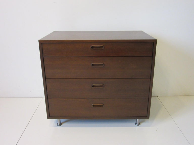 Danish Walnut Dresser / Chest by Poul Cadovius 4