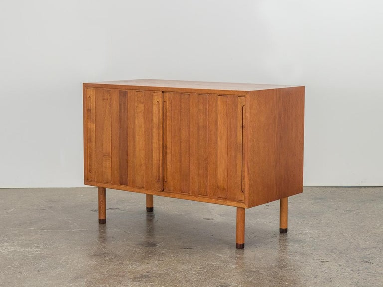 Mid-Century Modern Danish White Oak Cabinet with Rosewood Feet For Sale