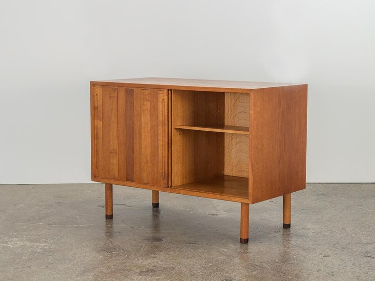 20th Century Danish White Oak Cabinet with Rosewood Feet For Sale
