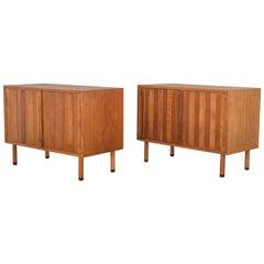 Danish White Oak Cabinet with Rosewood Feet
