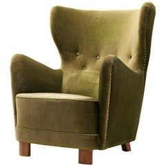 Danish Wingback Armchair