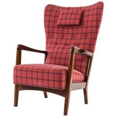 Danish Wingback Chair by Soren Hansen for Fritz Hansen