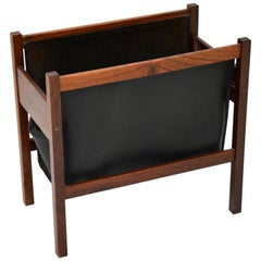 Danish Wood and Leather Magazine or Paper Holder
