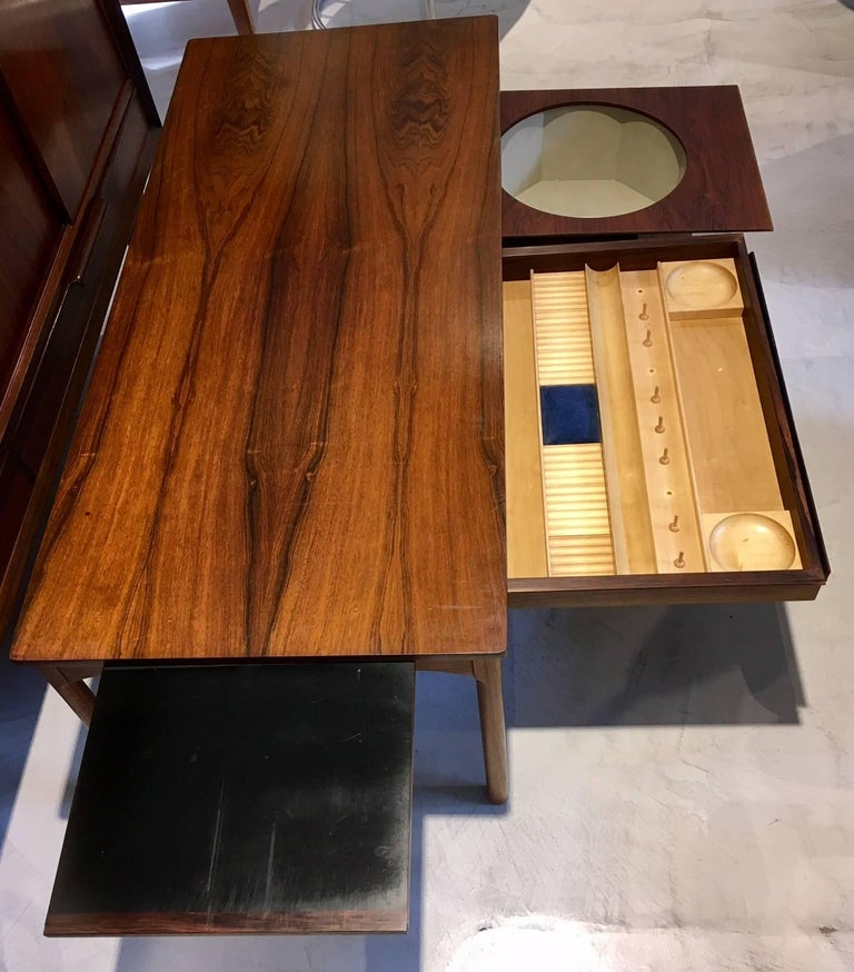 Danish Wooden Coffee Table with Haberdashery Drawers For Sale 1