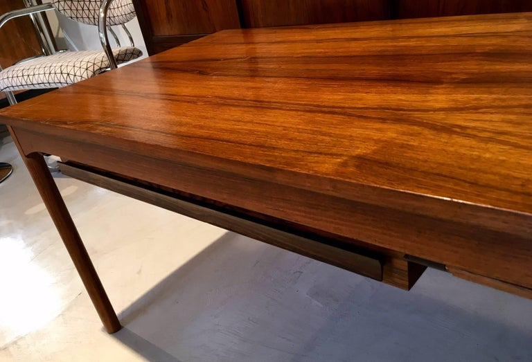 Danish Wooden Coffee Table with Haberdashery Drawers For Sale 3