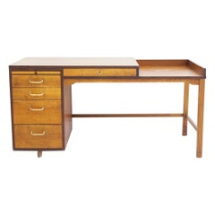 Danish Wooden Writing Desk of Teak and Oak