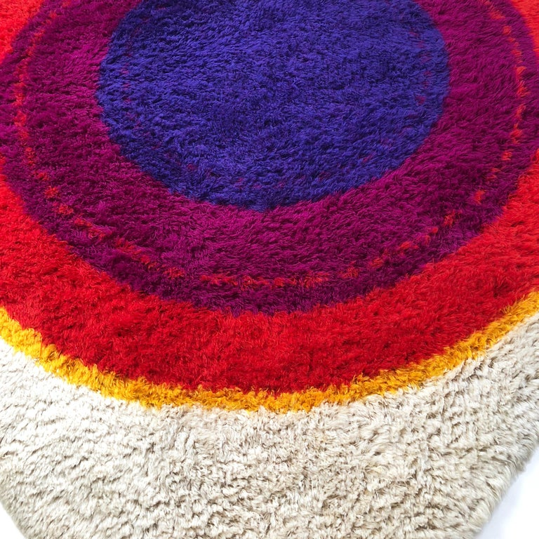 Danish Wool Rya Rug Tapestry