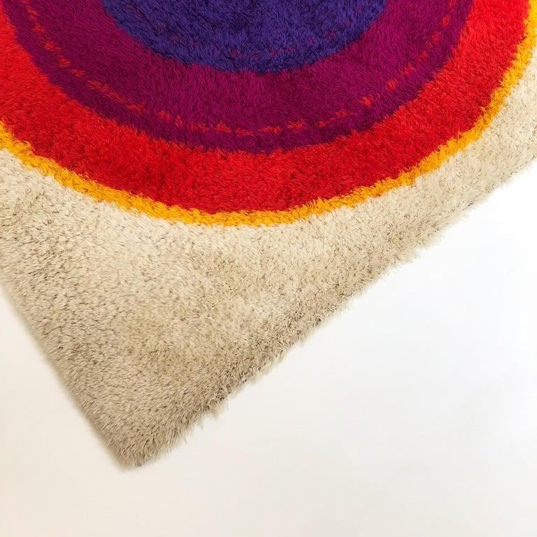 20th Century Danish Wool Rya Rug Tapestry