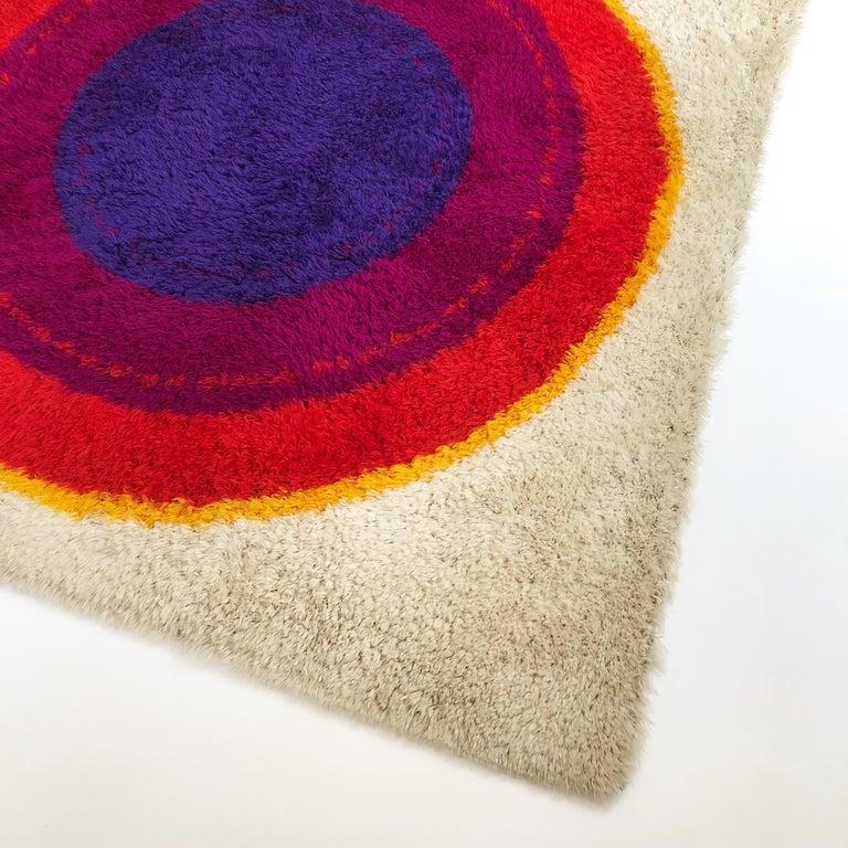 Cotton Danish Wool Rya Rug Tapestry