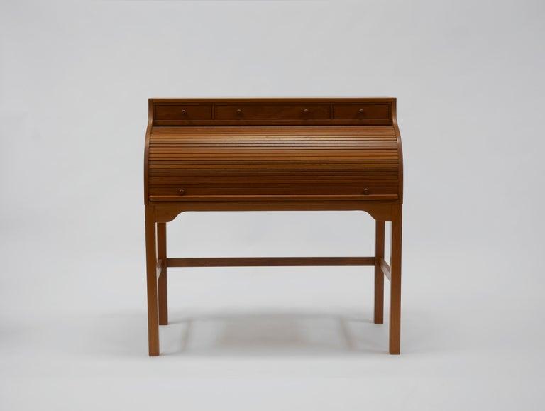 Scandinavian Modern Danish Writer's Desk in Teak by Andreas Hansen For Sale