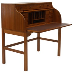 Danish Writer's Desk in Teak by Andreas Hansen